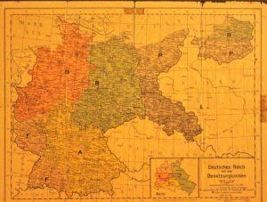Karte der Besatzungszonen Deutsches Reich von 1945